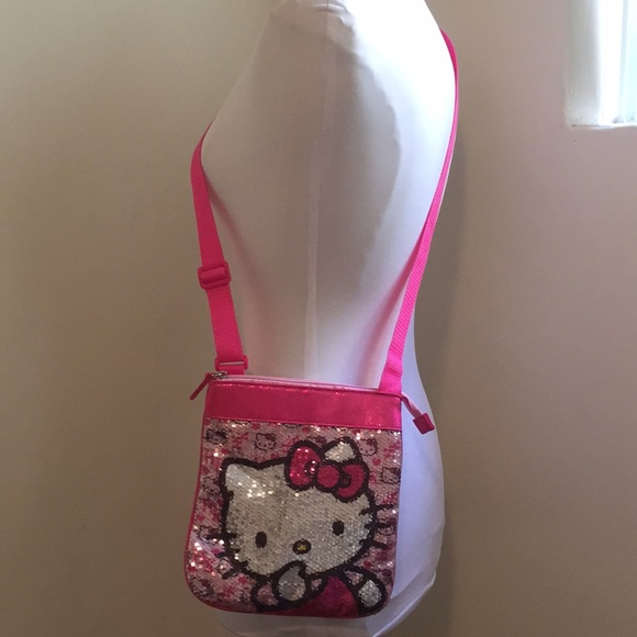 65d3a147f9 Hello Kitty Other - Hello Kitty Sequin Pink Crossbody bag